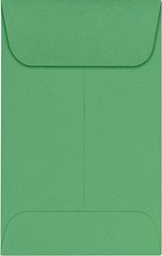 LUXPaper Coin Envelopes, Holiday Green, 2 1/4-Inch x 3 1/2-Inch, ()