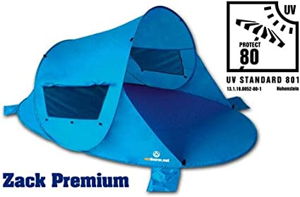 Pop Up Strandmuschel Zack Premium Family Sonnenschutz Windschutz