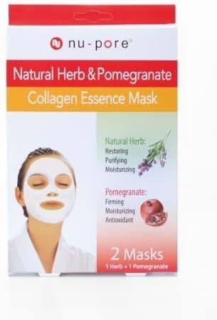 Nu-Pore Collagen Essence Mask 2ct (Herb & Pomegranate), Bulk Case of 24