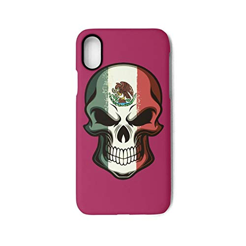 Mexican Skull Tattoo Flag Halloween Makeup Phone Case for iPhone X Durable and Slim Lightweight with Classic Design&iPhone Case for Apple iPhone X