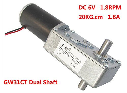 Reversible DC 12V Permanent Magnet DC Worm Gear Motor 8Rpm with Self-locking
