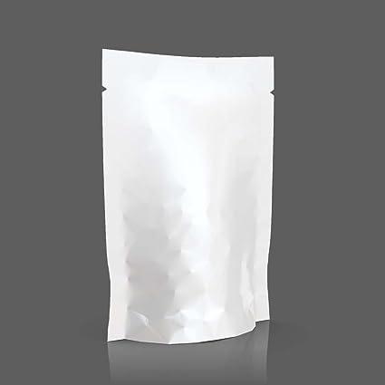 MALENGE STAND UP 100 Bolsas Stand-up Papel Blanco Aluminio ...
