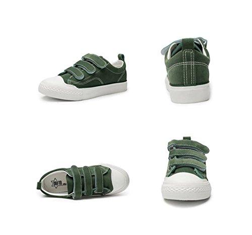 Mode Klett Flache Schuhe Student Casual Board Schuhe Breathable Sportschuhe Outdoor Laufschuhe ( Farbe : Grün , größe : 37 ) Grün
