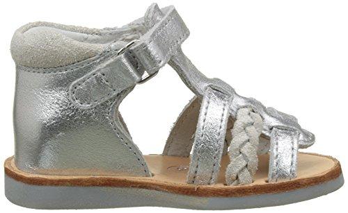 Minibel Manel - Zapatos Niñas Argent (Argent Paillette Ecru)