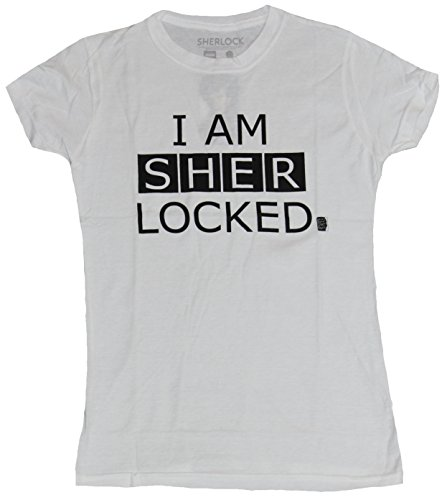 Sherlock (BBC TV Series) Girls Juniors T-Shirt - I Am Sherlocked (Small) White