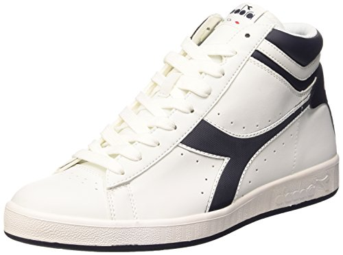 Diadora Game P High, Sneaker a Collo Alto Unisex – Adulto Bianco/Blu Profondo
