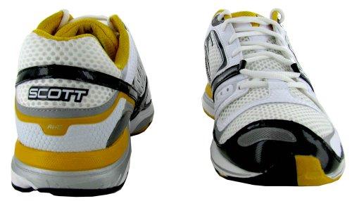 various colors 0bced 4ebe8 Scott Ride Im Im Im Hommes Mesh Chaussures De Course Blanc Jaune Fusion  ed1d84