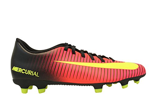 Nike Men Mercurial Vortex III FG Football Boots, Red Naranja (Total Crimson / Vlt-blk-pnk Blst)