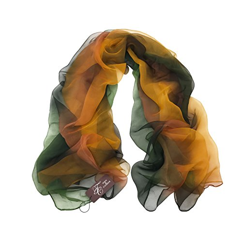 TONY&CANDICE(TM) 100% Silk Extra Long Oblong Silk Scarf,65