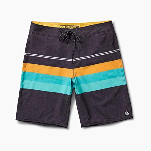 Reef - Mens Peeler 2 Boardshorts 2018, Black, 36