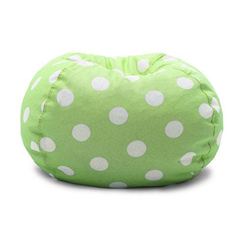 Big Joe 0630250 Chartreuse Polka Dot Classic Bean Bag Chair, White