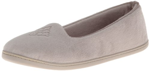 Dearfoams Plush Velour Closed-Back Womens Slipper  Padded Microfiber Slip-Ons with a Durable Outsole - 745