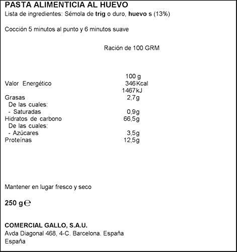 Gallo - Fettuccini Huevo - 250 grs