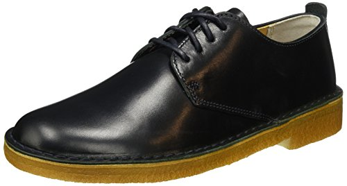 dark Scarpe Navy Leather Clarks Basse London Originals Stringate Blu Derby Uomo Desert CwwqztgxS