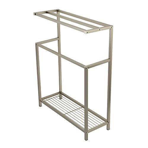 (Kingston Brass SCC8368 Edenscape Freestanding Iron Towel Rack Brushed Nickel)