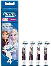 Oral-B Kids Tandborsthuvuden Dekorerade Med Disney Frozen 2-figurer, Förp. Med 4 st, Borsthuvud Särskilt Framtaget För Barn, Från 3år