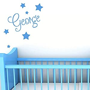 Personalised Wall Name with Stars – Custom Nursery Sticker