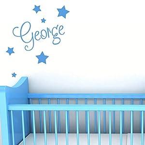 Personalised Wall Name with Stars – Custom Nursery Sticker