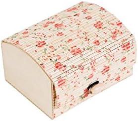DISOK - Baúl Estampado Floral - Cajas para Detalles de Bodas - Cajitas, Estuches, Cajas pañuelos y Recuerdos invitadas Bodas