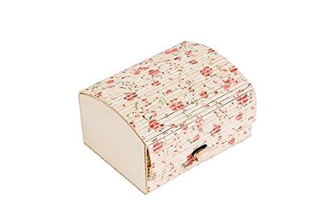DISOK - Baúl Estampado Floral - Cajas para Detalles de Bodas - Cajitas, Estuches, Cajas Baratas para pañuelos y recuerdos invitadas bodas: Amazon.es: Hogar