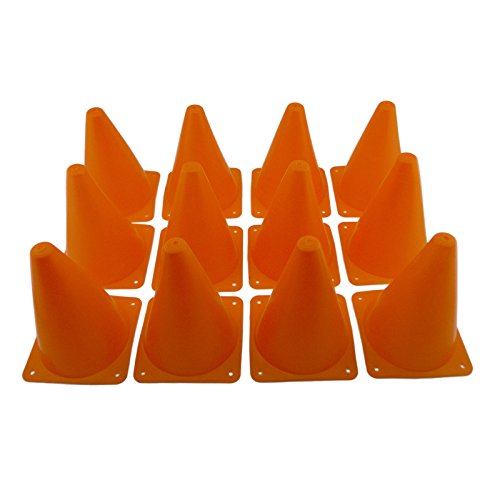 "Tytroy 7 "" 12 Pack Sport Outdoor Indoor Training Traffic Safety Orange Soccer Football Sport Activity Cones"