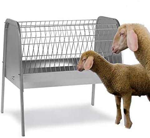 FINCA CASAREJO Forrajera para ovejas Exterior de 1 Metro – Comedero con Patas para Ganado ovino