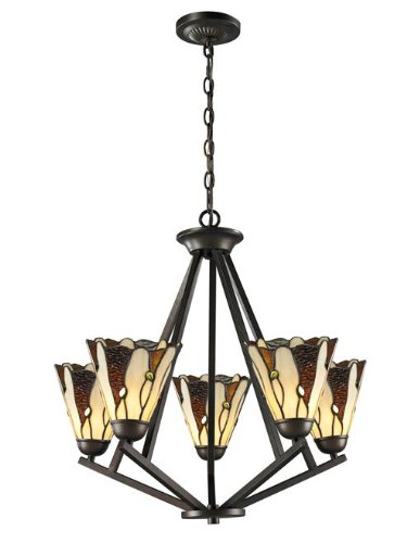 Dale Tiffany TH12434 Ripley 5-Light Chandelier, Copper Bronze