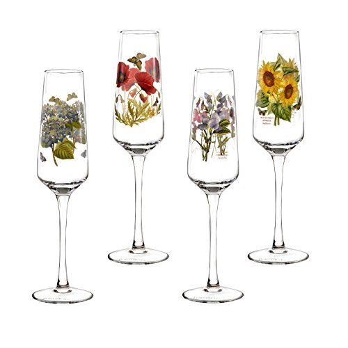 Botanic Blue Tea Set - Portmeirion Botanic Garden Set of 4 Champagne Flutes