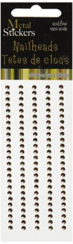 MARK RICHARDS Metal Stickers Nailheads 3mm Round 125/Pkg, - Metal Stickers Scrap