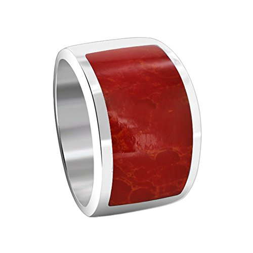 925 Sterling Silver Coral Ring (Gem Avenue 925 Sterling Silver Red Coral Gemstone 6mm Ring)