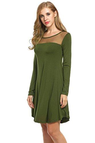 Cindere Robes Tunique Robe Tunique Noire Pour Les Femmes À Porter Avec Des Leggings Manches Pleines Robes Hauts Vert Foncé