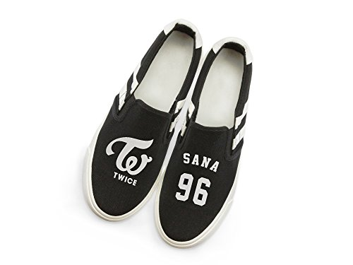 Fanstown Kpop Twice Sneakers Canvas Shoes Fanshion Memeber Hiphop Style Fan Support With lomo Card Sana KYEpD