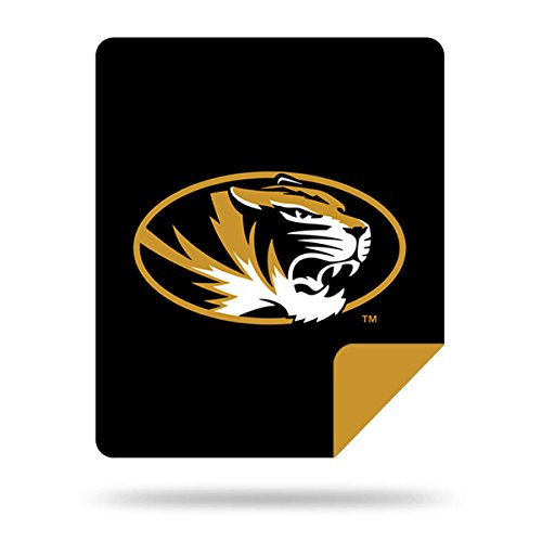 Officially Licensed NCAA Missouri Tigers Denali Silver Knit Throw Blanket, Black, 60'' x 72'' by Northwest