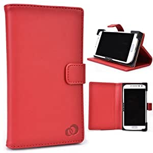 Alcatel One Touch Scribe HD OT-8008D (TCL Y900) Phone Case with Stand Red