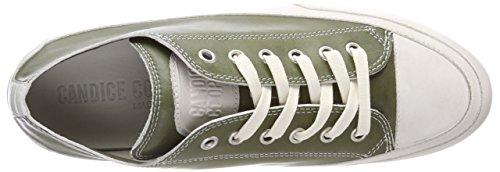 Gr Tamponato Mujer para Cooper Kaki Verde Zapatillas Candice 1qw0O0