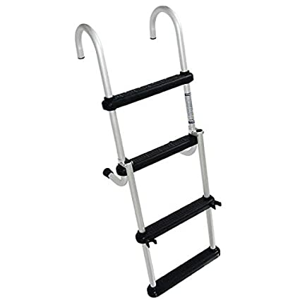 Garelick 12350 Folding Pontoon Ladder 4 Steps