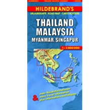 Hildebrand's Travel Map: Thailand, Burma, Malaysia and Singapore