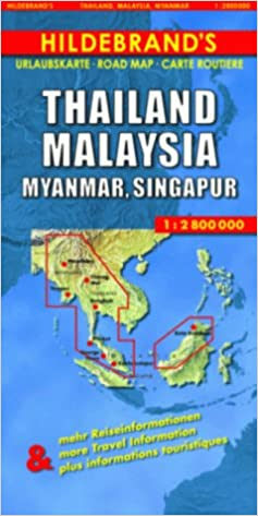 Carte Thailande Singapour.Hildebrand S Travel Map Thailand Burma Malaysia And