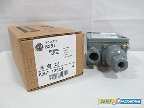 NEW ALLEN BRADLEY 836T-T252J PRESSURE CONTROL SWITCH 6-75PSI D224547