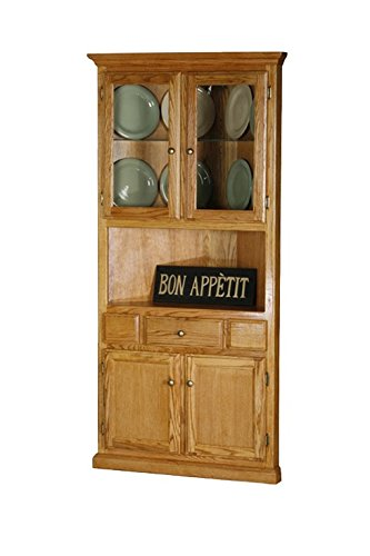 Eagle Classic Oak Corner Dining Hutch/Buffet, Chocolate Mousse Finish