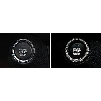 JessicaAlba New Car Interior One-Key Engine Start Stop Ignition Push Button Decorative Diamante Ring for Cars, Trucks, Jeeps, SUV, and More.: Automotive