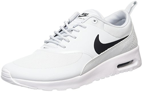 Femme Thea Platinum Pure NIKE white Max Baskets Black Air Argent Gris qPAqS7Inw