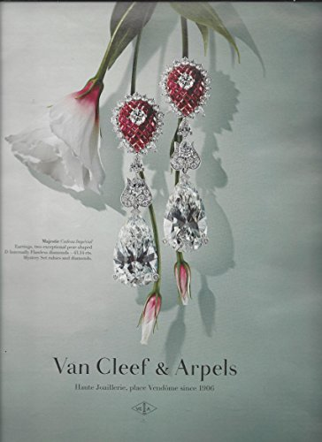 2014 **PRINT AD** For Van Cleef & Arpels Diamond & Gem Cadeau Imperial Earrings