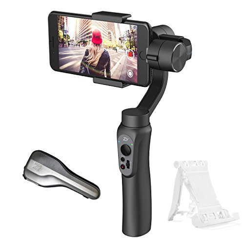 Gimbal Stabilizer for smartphone, Zhiyun Smooth-Q, 3-Axis Handheld, Gimbal for iphone 8/ 7plus/ 6s plus/ 7/ 6,Samsung S8+/S8/S7/S6/S5, and GoPro Hero 3/4/5