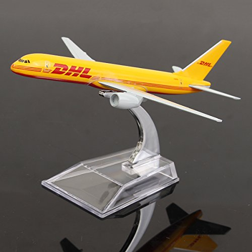 new-new-16cm-metal-plane-model-aircraft-b757-dhl-kargo-aeroplane-scale-desk-toy-by-ktoy