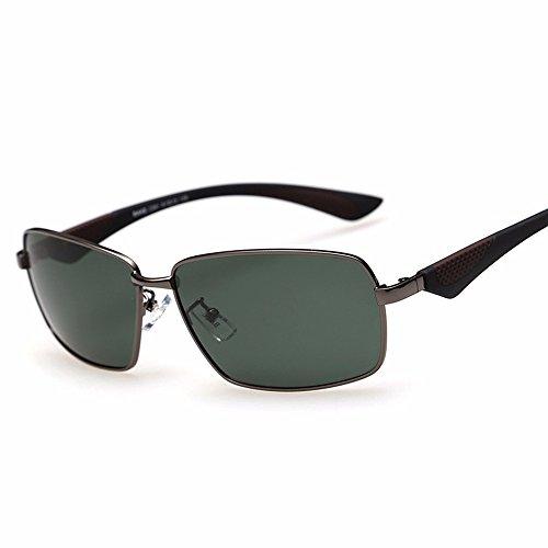 Negra de Sol Sol Marco Gafas Ceniza Gafas Hombres de de de polarizadas dorado sol polarizadas Marco para Oro Gafas negro Liuxc ceniza gwTqFXIw