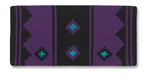 Mayatex Apache Saddle Blanket, Show Purple/Black/Turquoise, 36 x 34-Inch ()