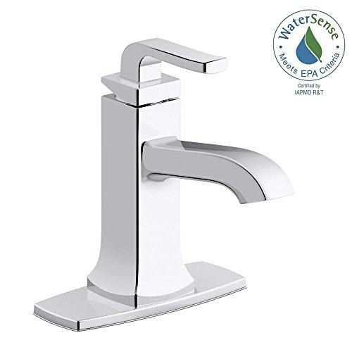 Electronic Single Hole Faucet - KOHLER Rubicon Single Hole 1-Handle Bathroom Faucet in Polished Chrome