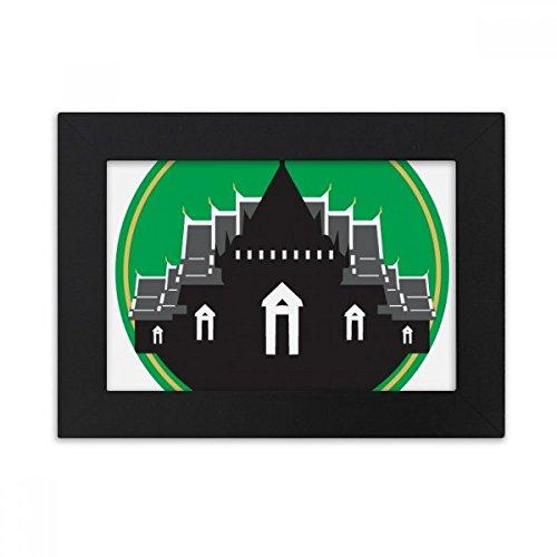 DIYthinker Thailand Made in Thailand Temple Shield Desktop Photo Frame Black Picture Art Painting 5x7 inch by DIYthinker
