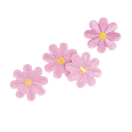 Craft Decoration - Nhbr 10pcs Embroidered Applique Flower Patches Sewing Craft Decoration - Christmas Assorted Kit Accessories For Stockings -